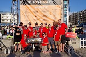 General Sheet Metal team members participating in a #finishcancer run
