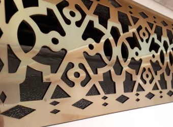 Custom lasercut vent artwork