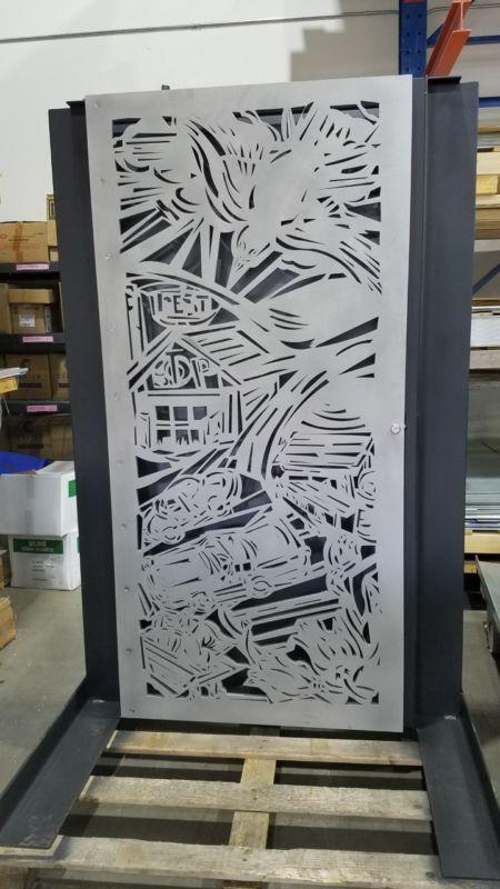 Custom lasercut vent artwork