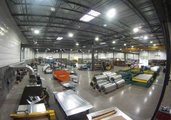 Aerial Warehouse photo of General Sheet Metal